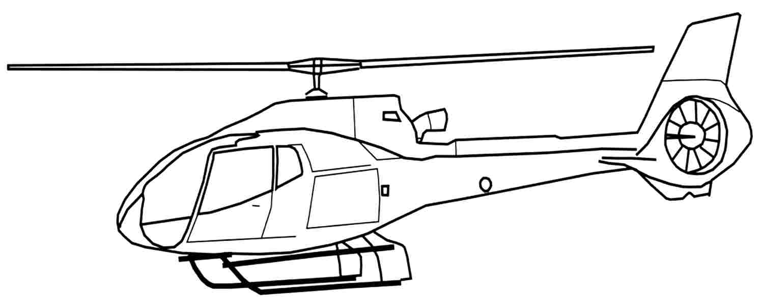 Helicopter Coloring Pages for Boys