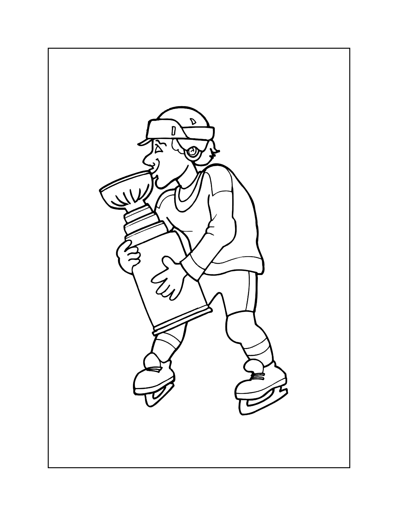 Hockey Cup Coloring Page