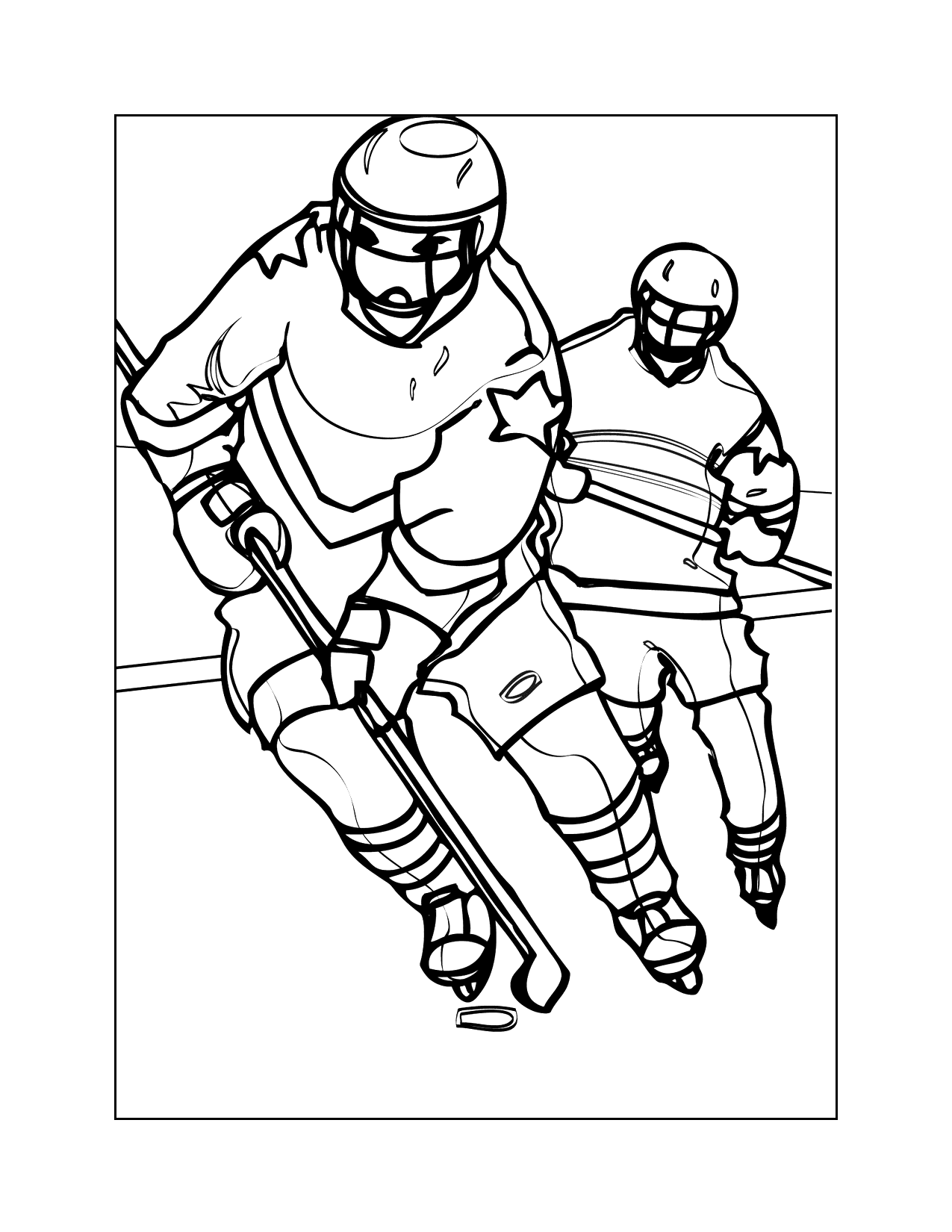 Hockey Players Coloring Page
