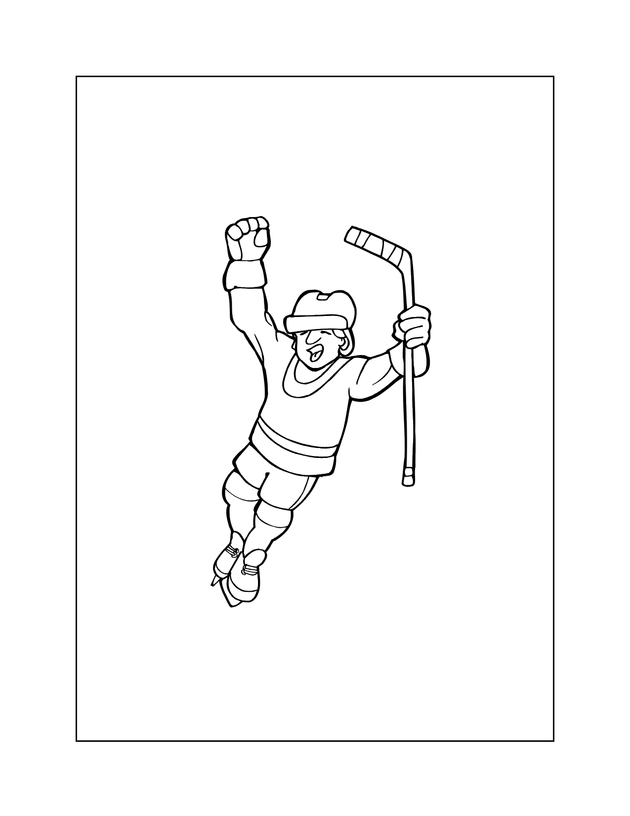 Hockey Score Coloring Pages