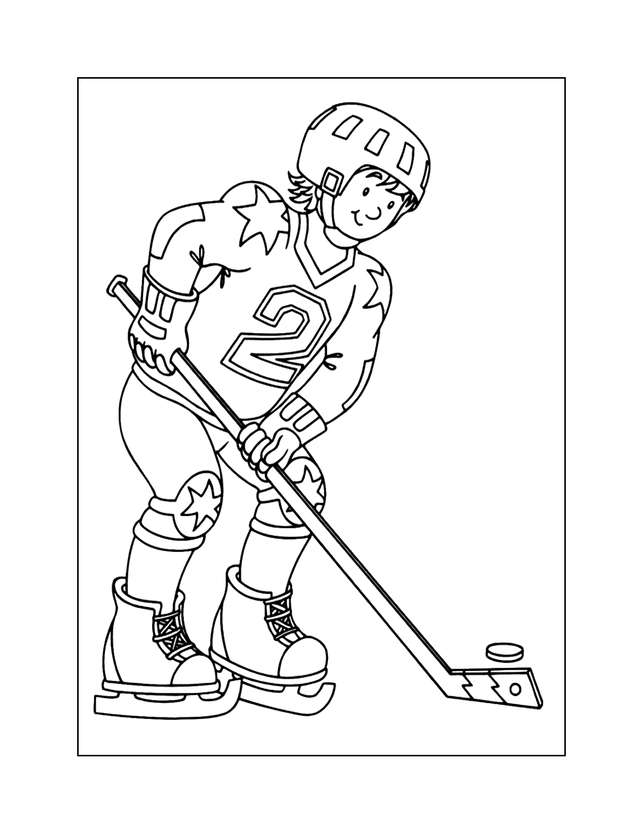 Hockey Uniform Coloring Pages
