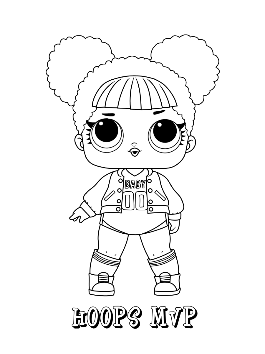 Hoops MVP LOL Dolls Coloring Pages