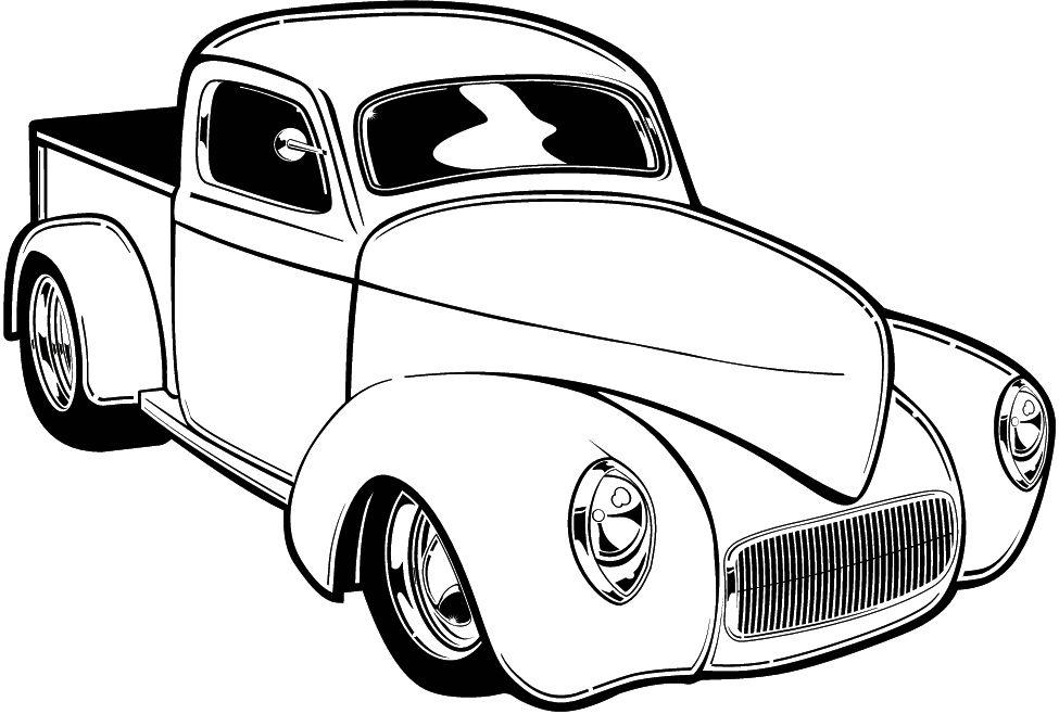 Hot Rod Car Coloring Pages