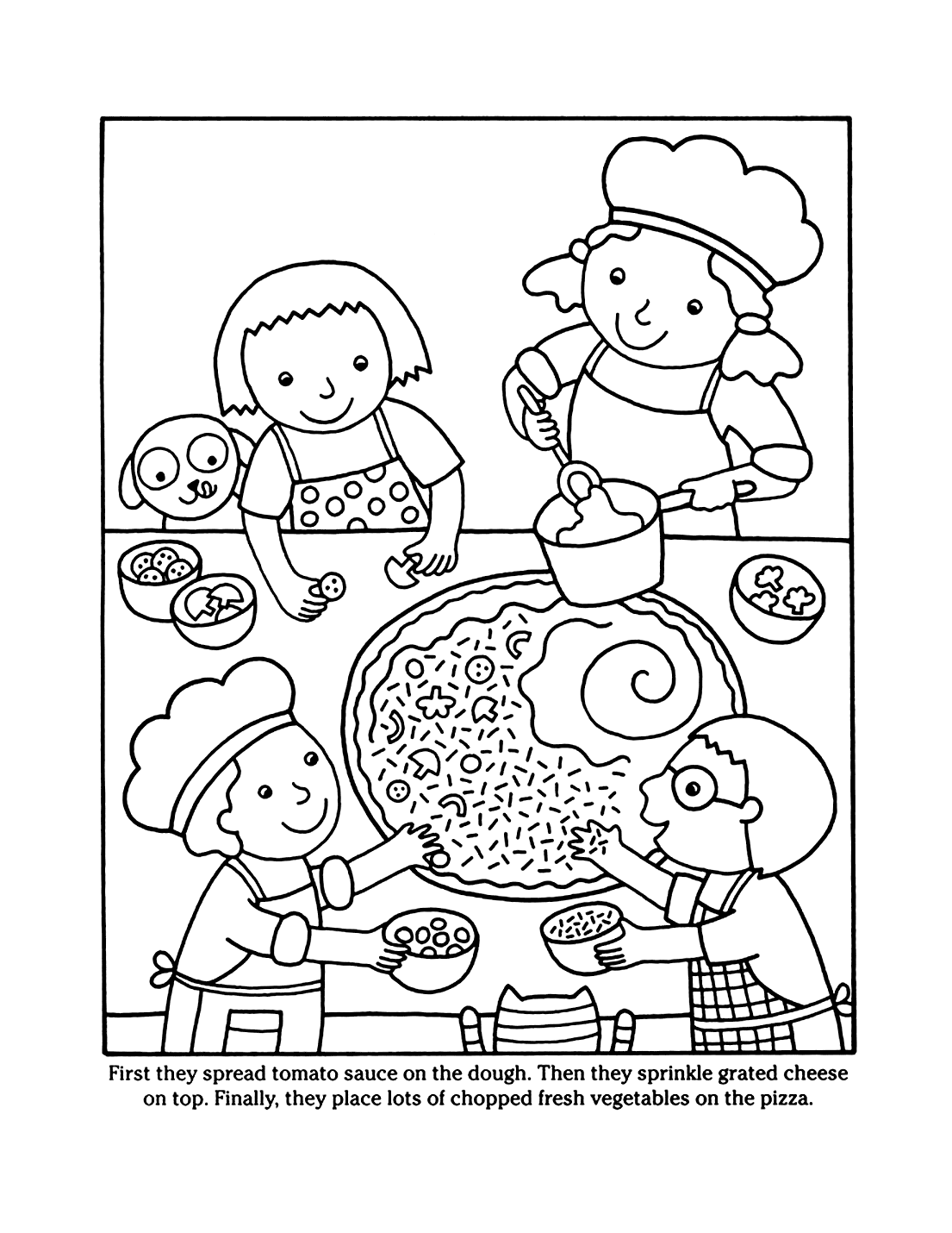 How To Make Pizza Coloring Sheet