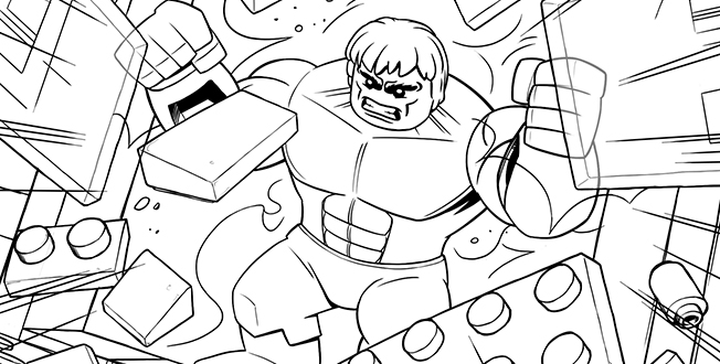 Hulk Smash Lego Avengers Coloring Pages