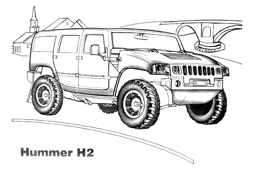 Hummer Car Coloring Pages