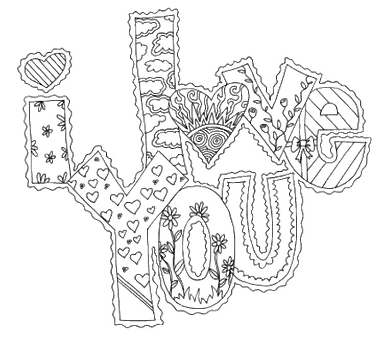 Valentines Day Coloring Page ❤ coloring.rocks!