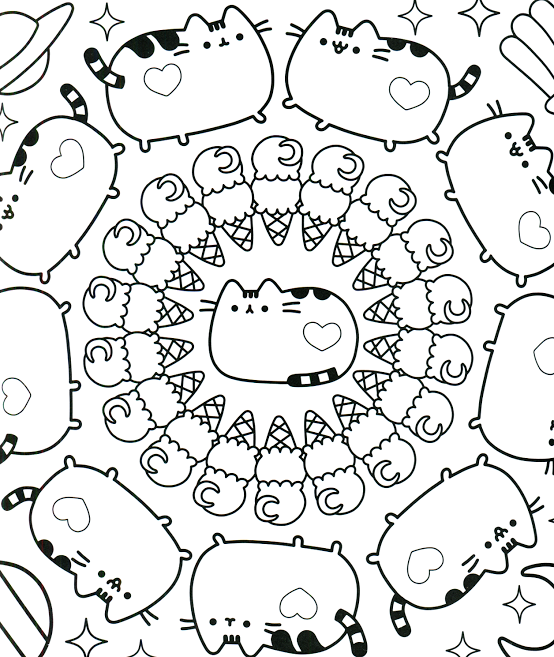 Ice Cream Cone Kawaii Coloring Pages