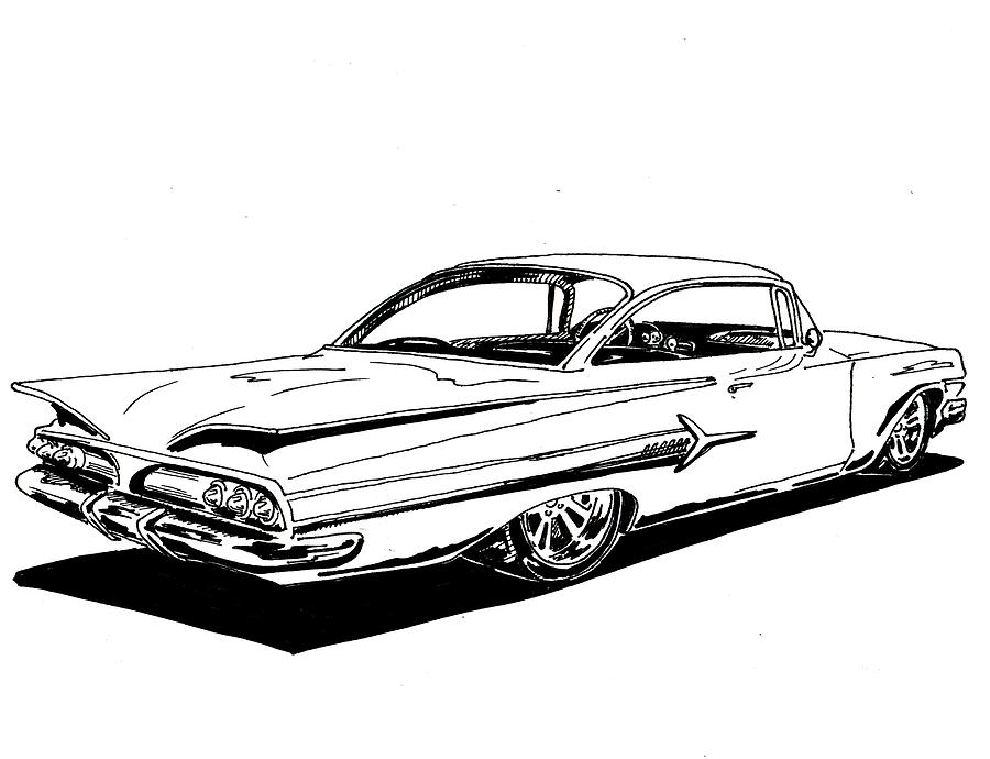 Impala Car Coloring Pages