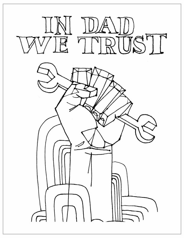 In Dad We Trust Fathers Day Coloring Pages