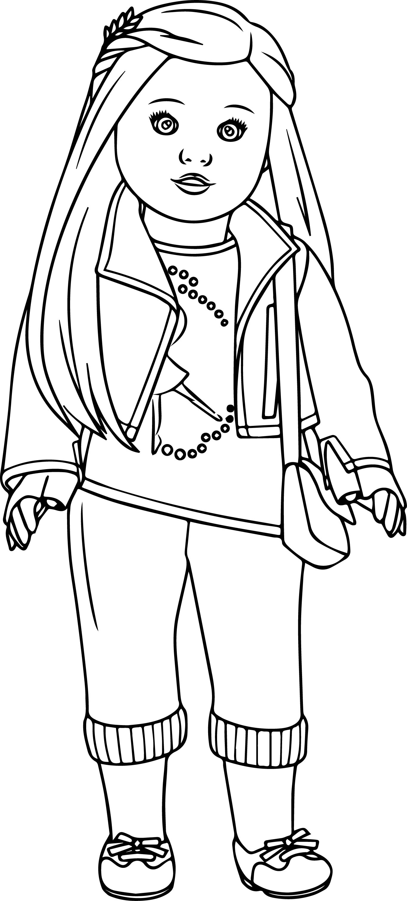 Isabelle American Girl Doll Coloring Pages