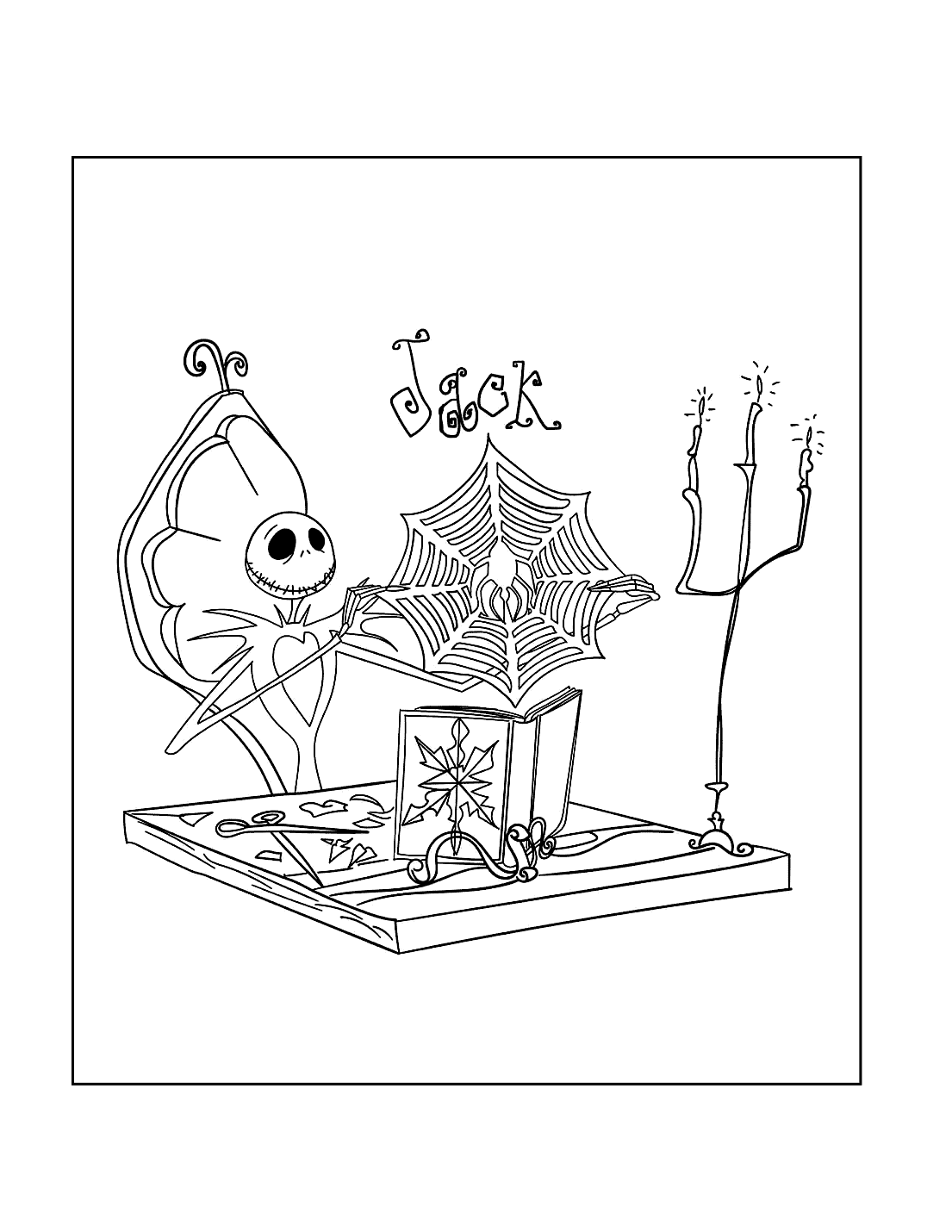Jack Nightmare Before Christmas Coloring Pages
