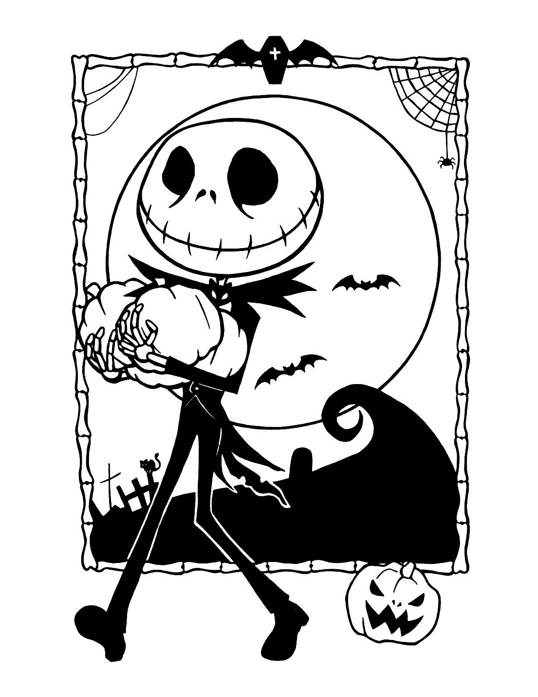 Jack Skellington Nightmare Coloring Page