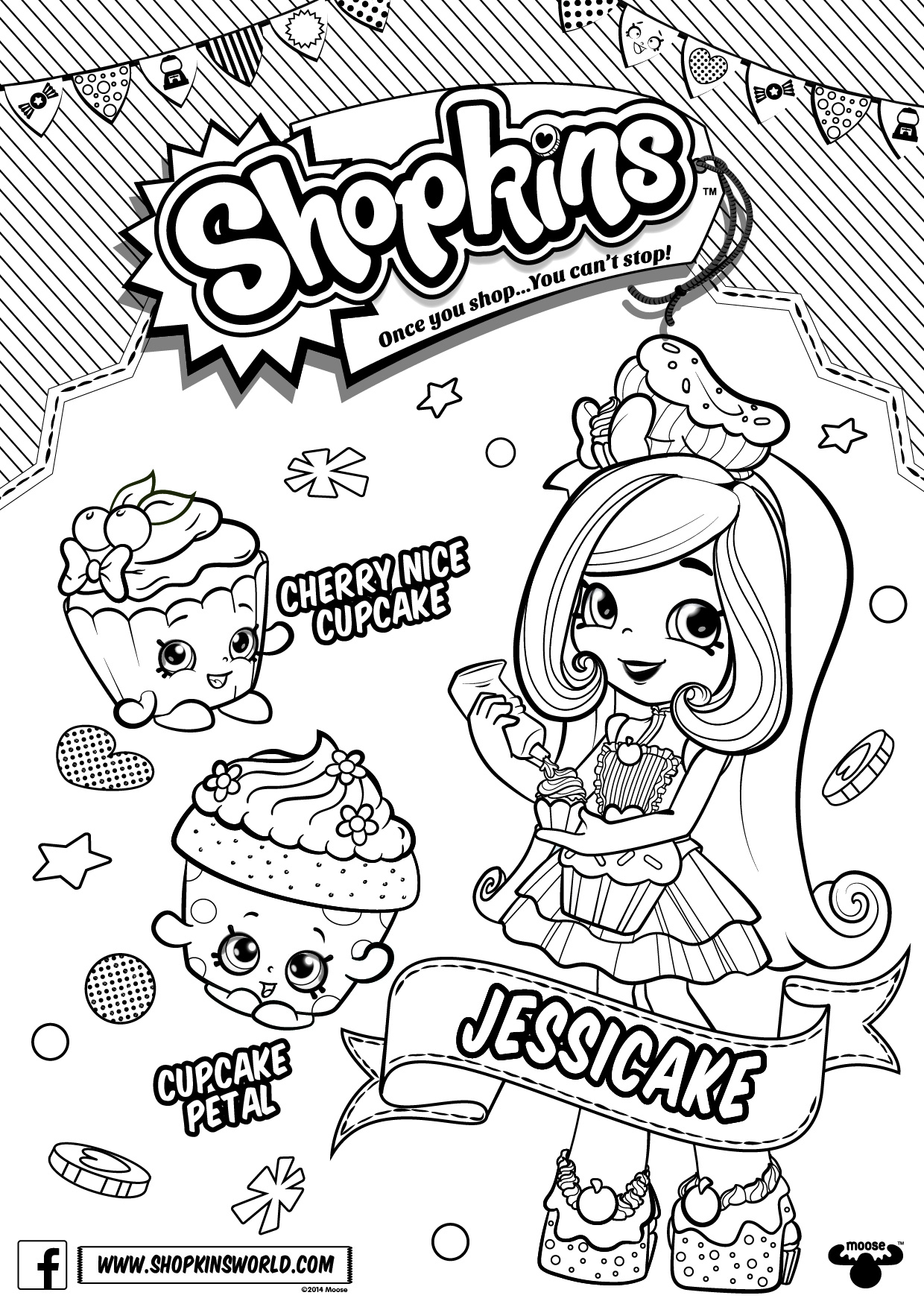 JessiCake Shoppies - Shopkins Coloring Pages