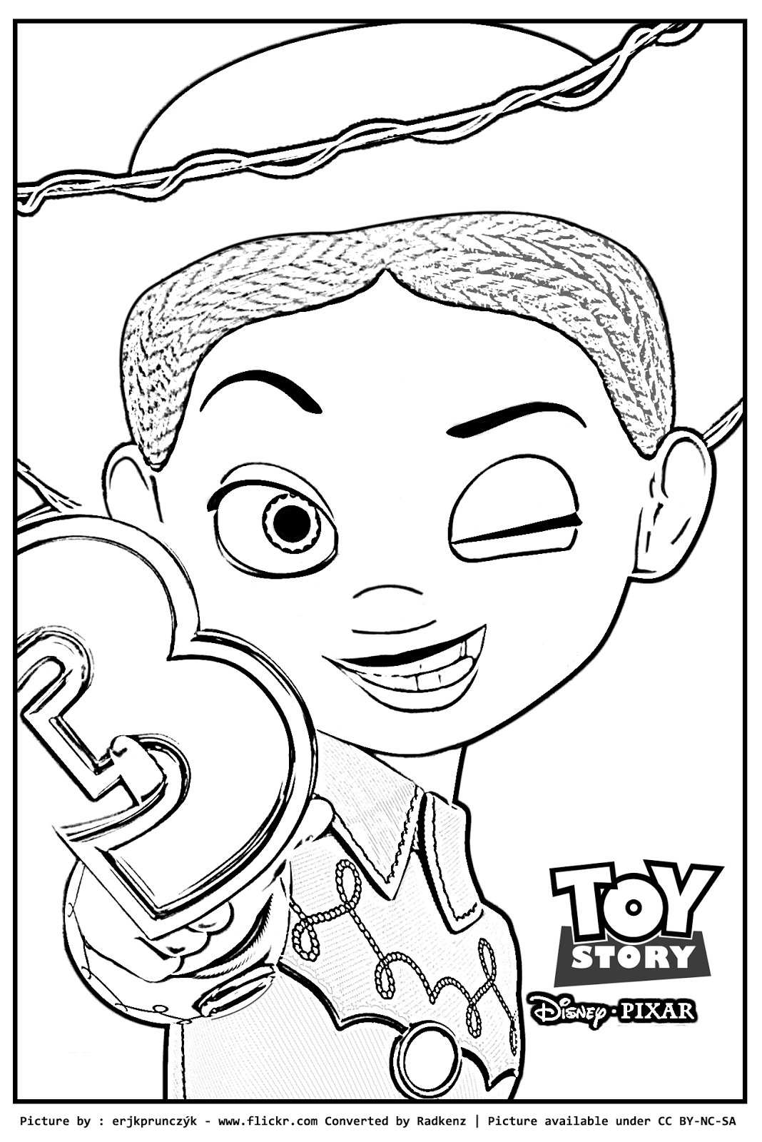 Jessie Toy Story 3 Coloring Pages