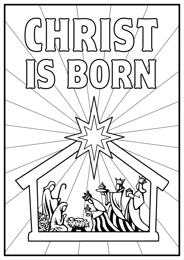 Jesus Christ Is Born Coloring Page – coloring.rocks!