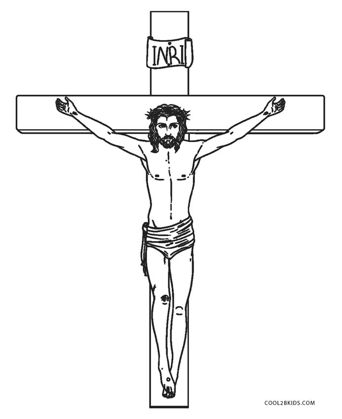 Jesus Christ on Cross Coloring Pages