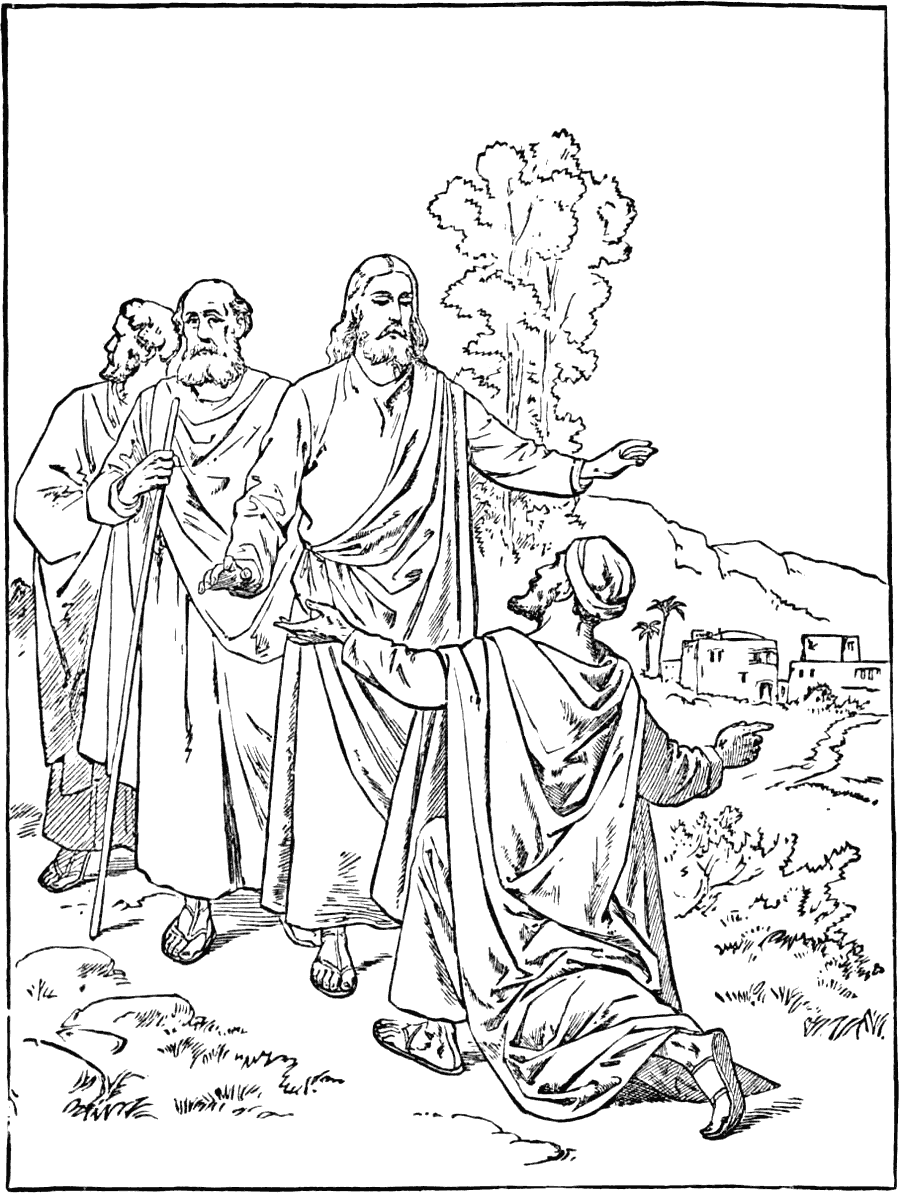 jesus heals the 10 lepers coloring page coloring rocks jesus heals the 10 lepers coloring page