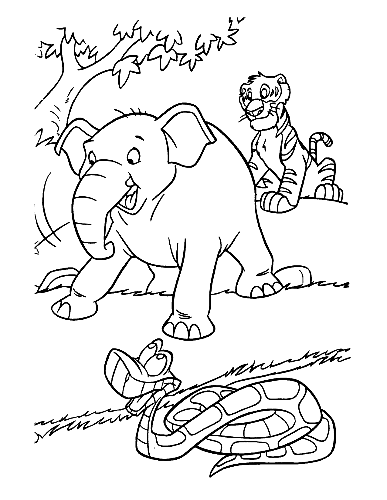 Jungle Book Characters Coloring Pages
