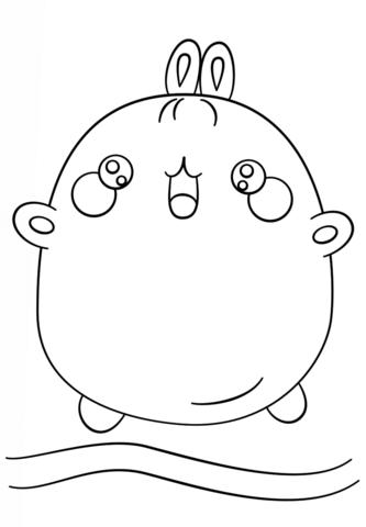 Kawaii Coloring Page Free