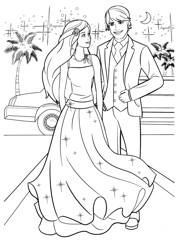 Ken Prom Barbie Coloring Pages