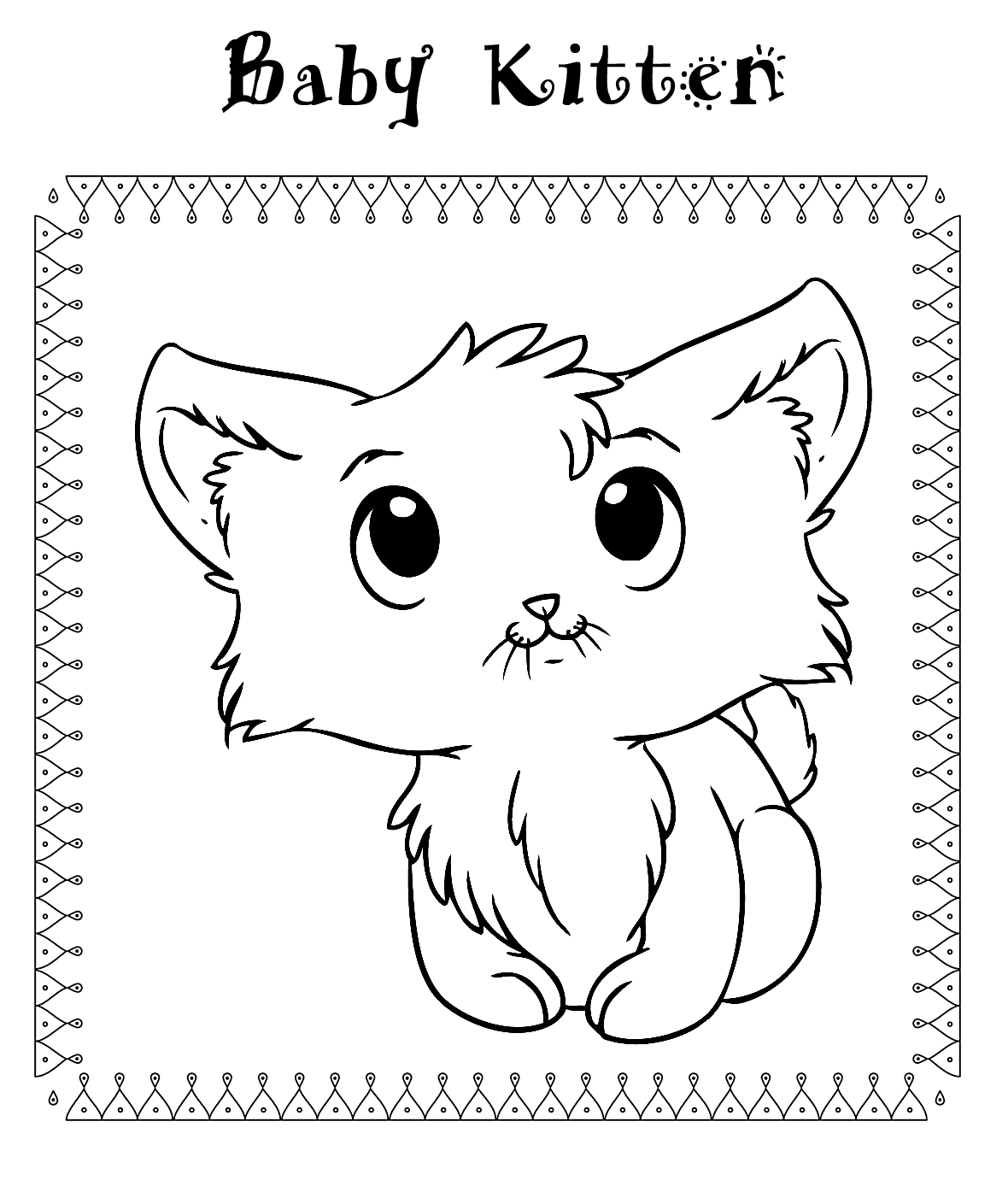 - Kitten Baby Animal Coloring Page – Coloring.rocks!