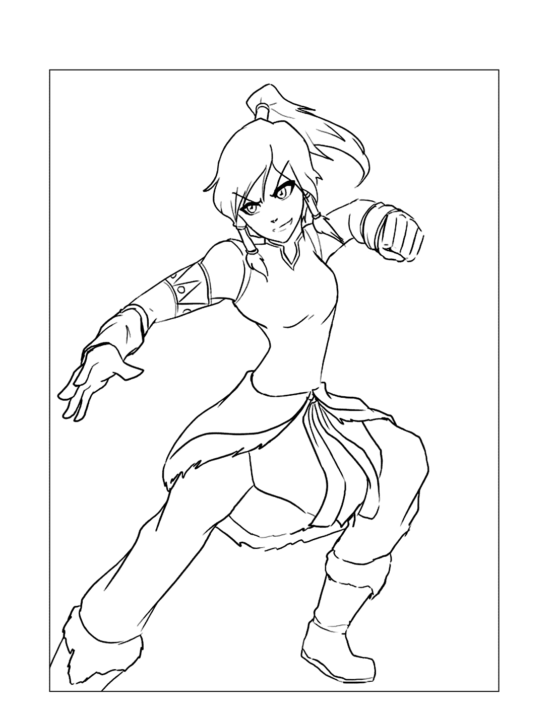 Korra Avatar Coloring Pages