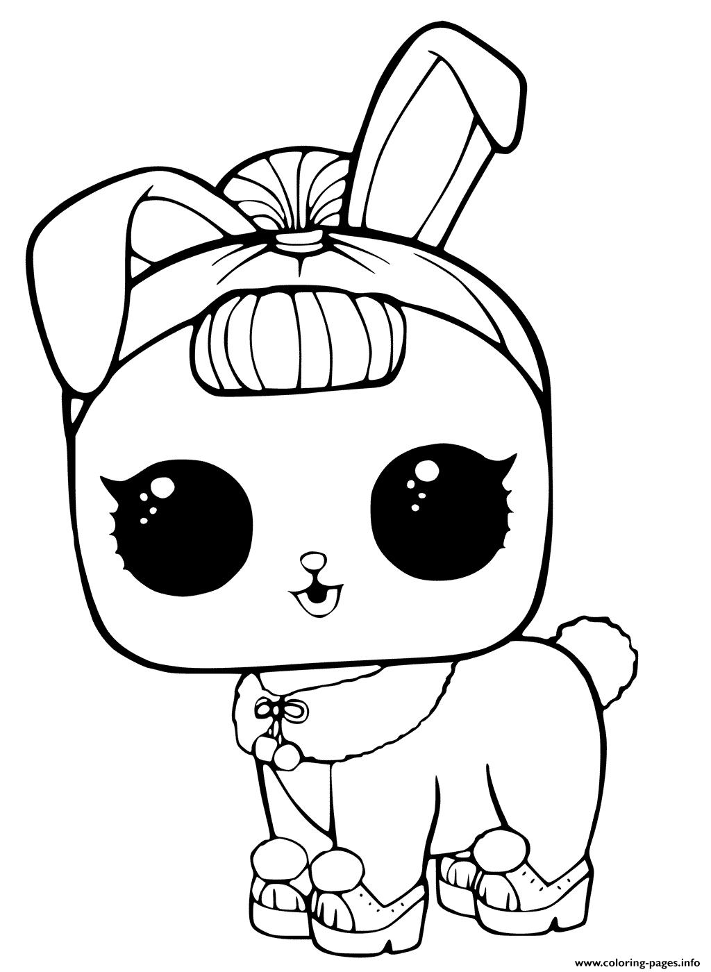 LOL Doll Surprise Pet Coloring Pages