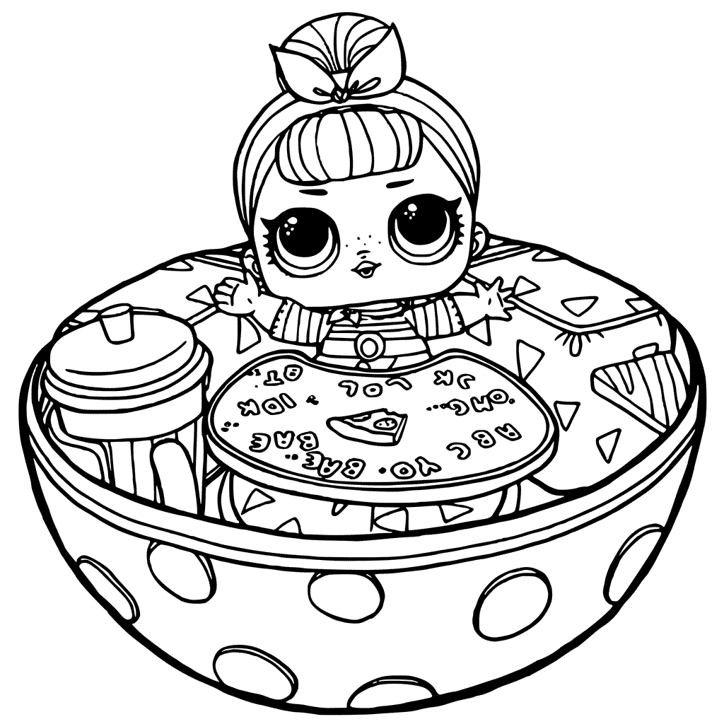 Lol Doll Coloring Pages Coloring Rocks