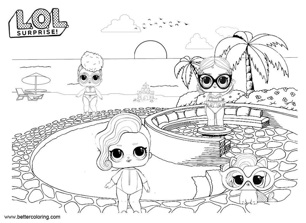 LOL Surprise Doll Free Coloring Pages