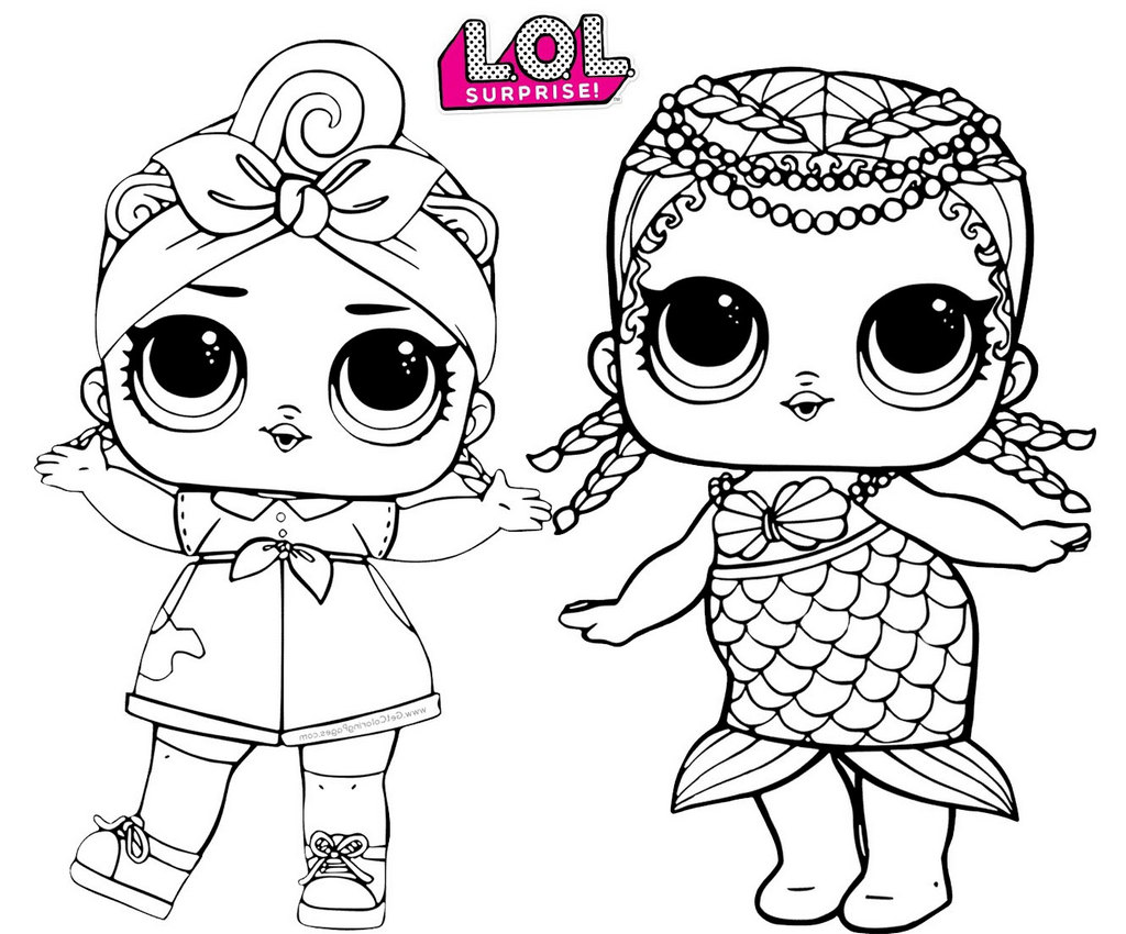 LOL Surprise Dolls Printable Coloring Pages