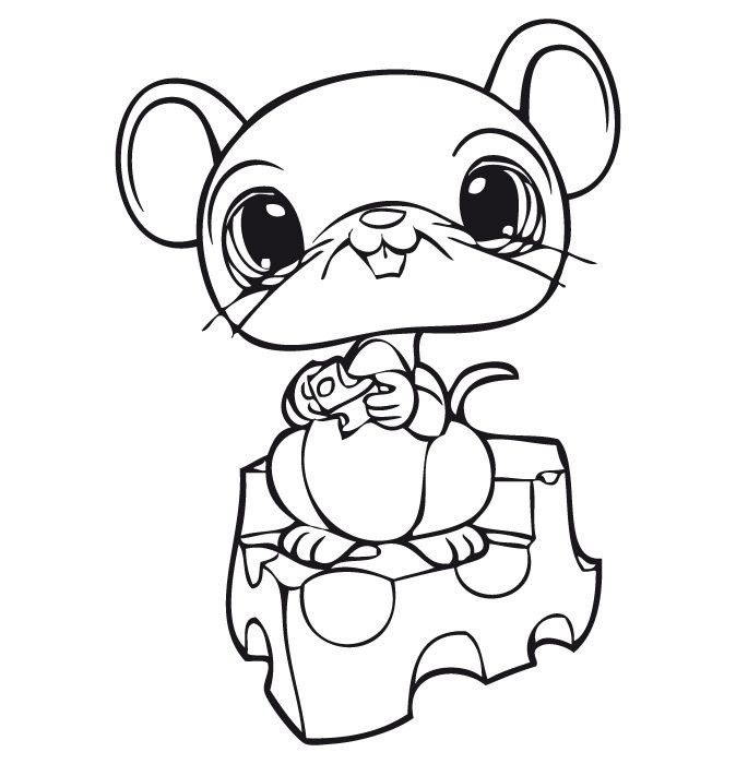 LPS Little Mouse Coloring Pages