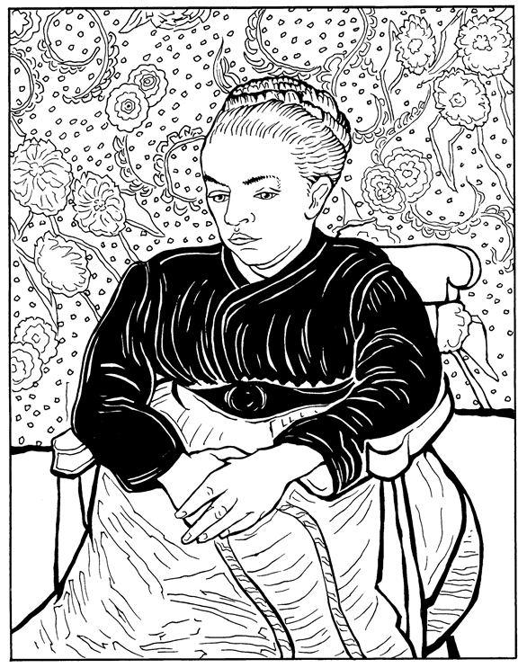 La Berceuse Van Gogh Coloring Pages