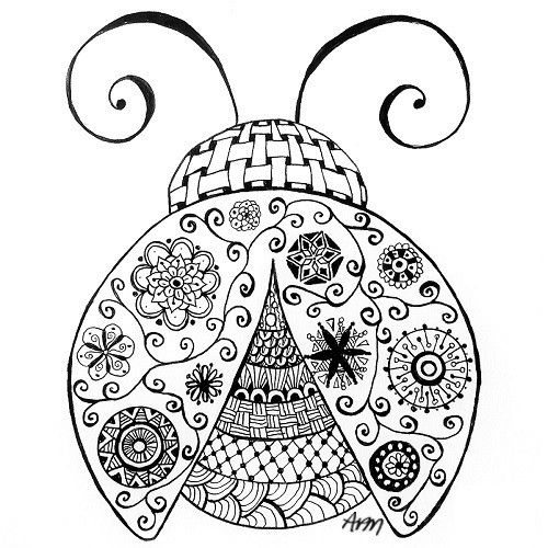Ladybug Coloring Pages For Adults