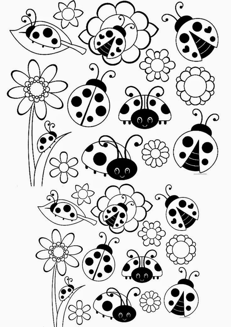 Ladybugs Coloring Page