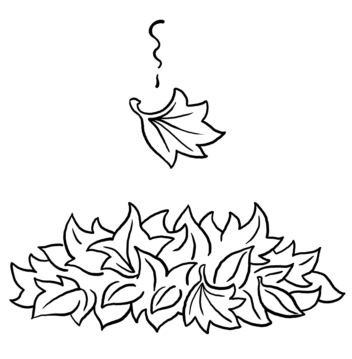 - Last Falling Leaf Coloring Page – Coloring.rocks!
