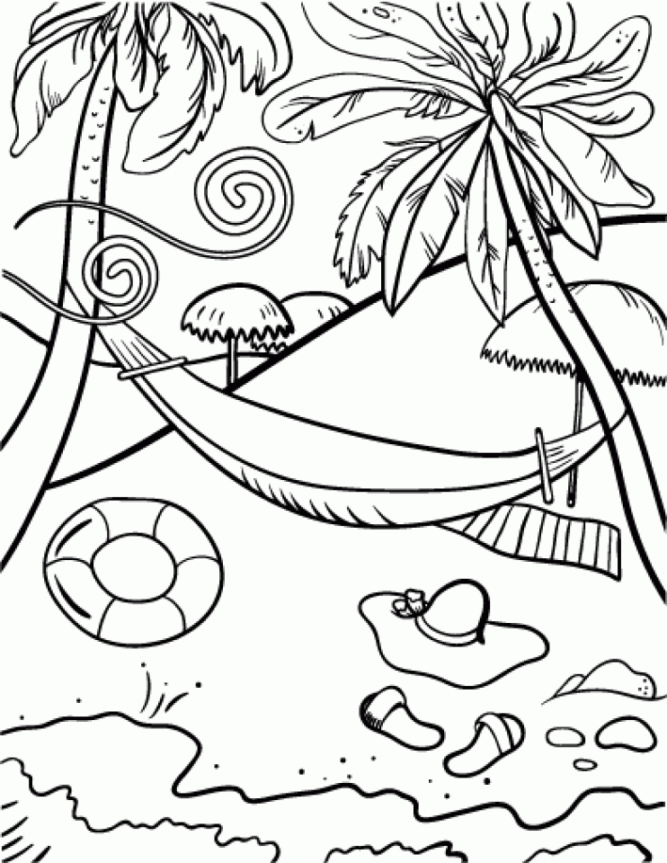 Lazy Beach Coloring Pages