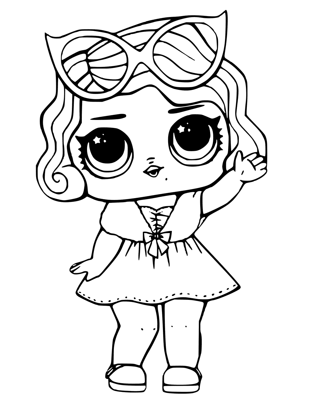 Leading Baby LOL Dolls Coloring Pages