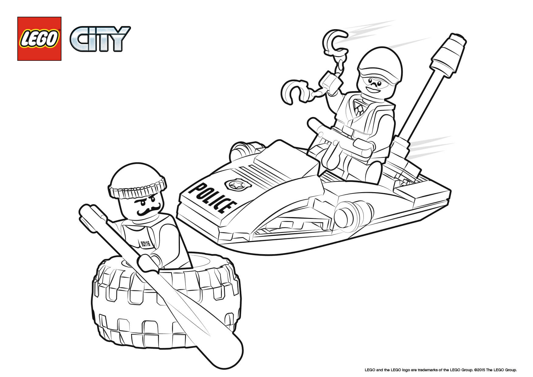 Lego City Marine Police Coloring Pages