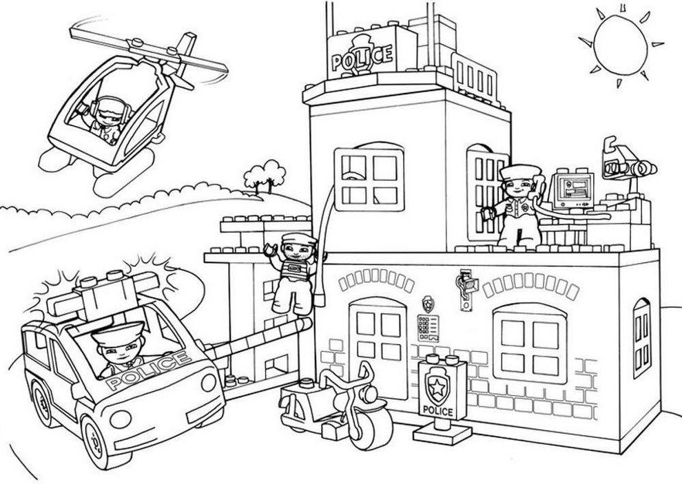 - Lego Police Coloring Pages – Coloring.rocks!