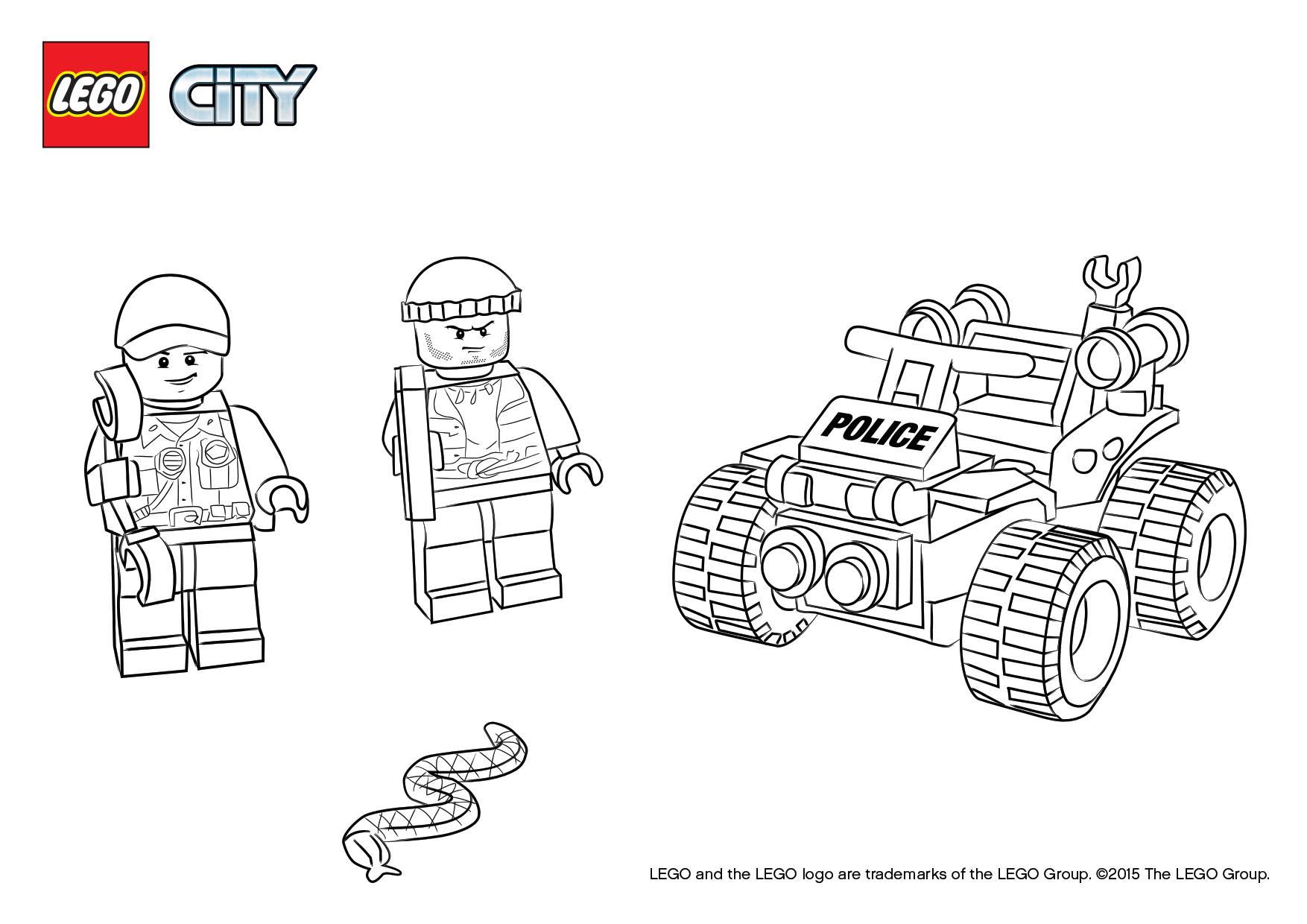 Lego City Police Officers Coloring Pages