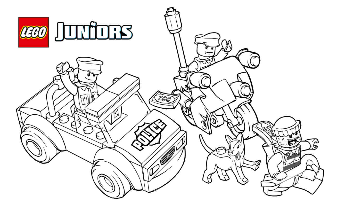 Lego Juniors Police Coloring Pages