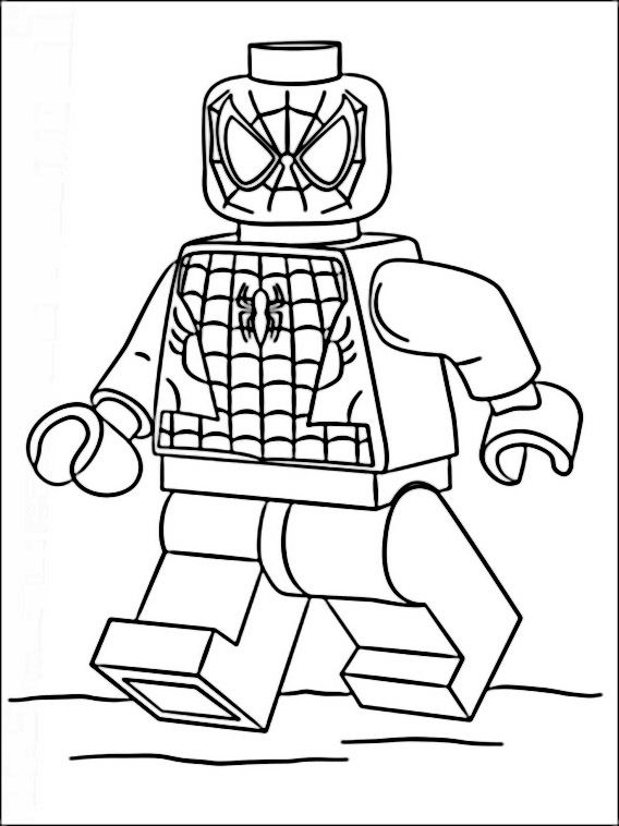 Lego Spiderman Avengers Coloring Pages