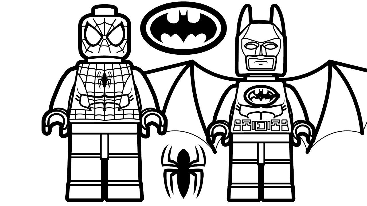 Lego Spiderman Batman Coloring Pages