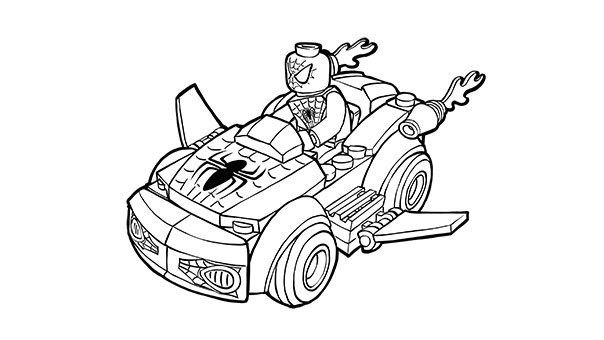 Lego Spiderman Car Coloring Pages