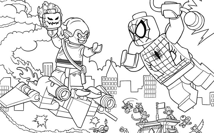 Lego Spiderman Coloring Pages - coloring.rocks!