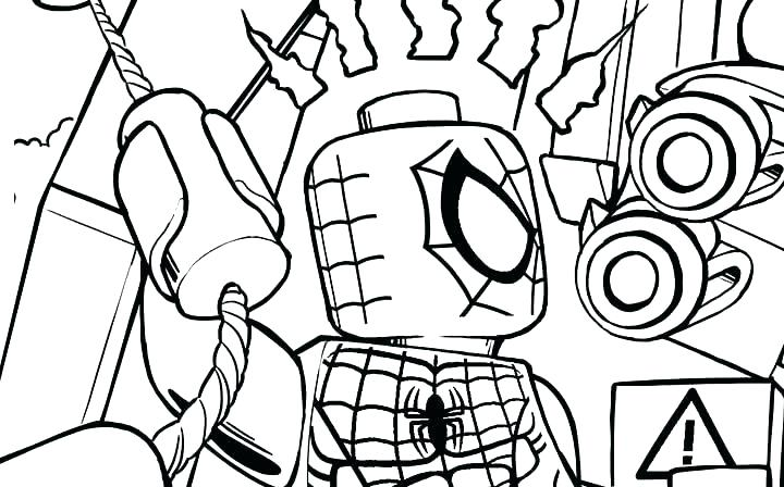 Lego Spiderman Scene Coloring Pages