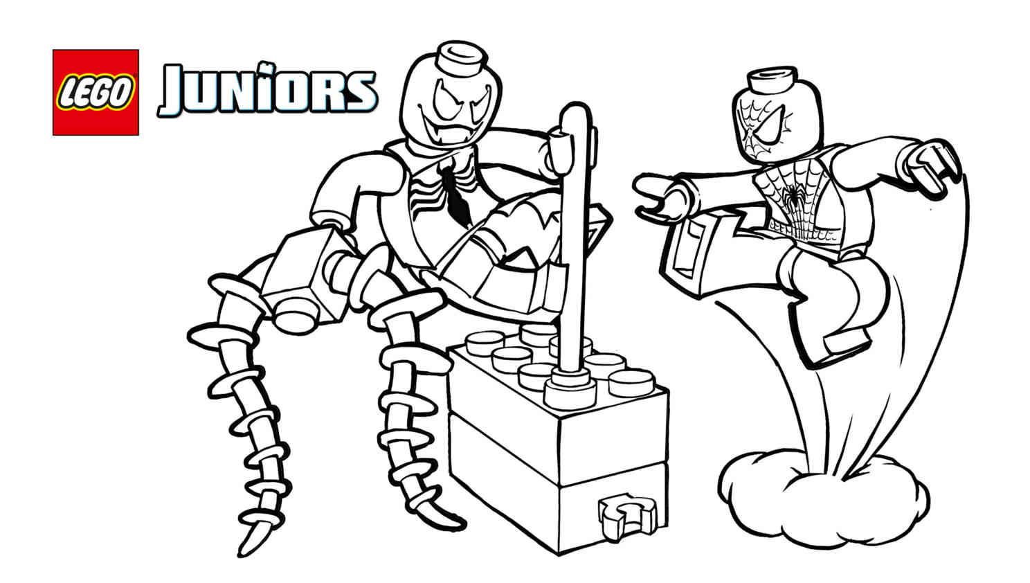 Lego Spiderman Venom Coloring Pages
