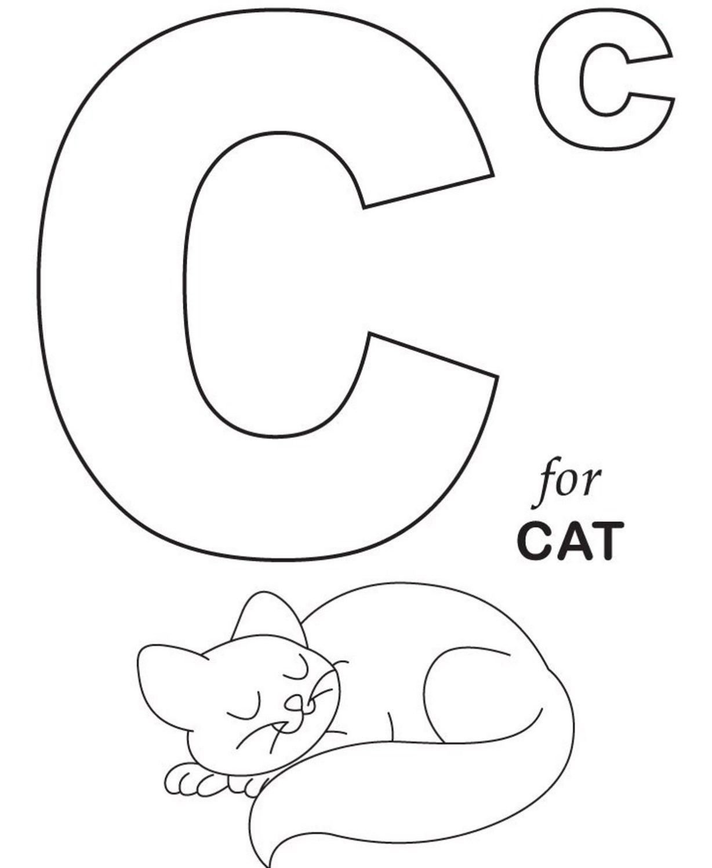 Letter C Kindergarten Coloring Pages