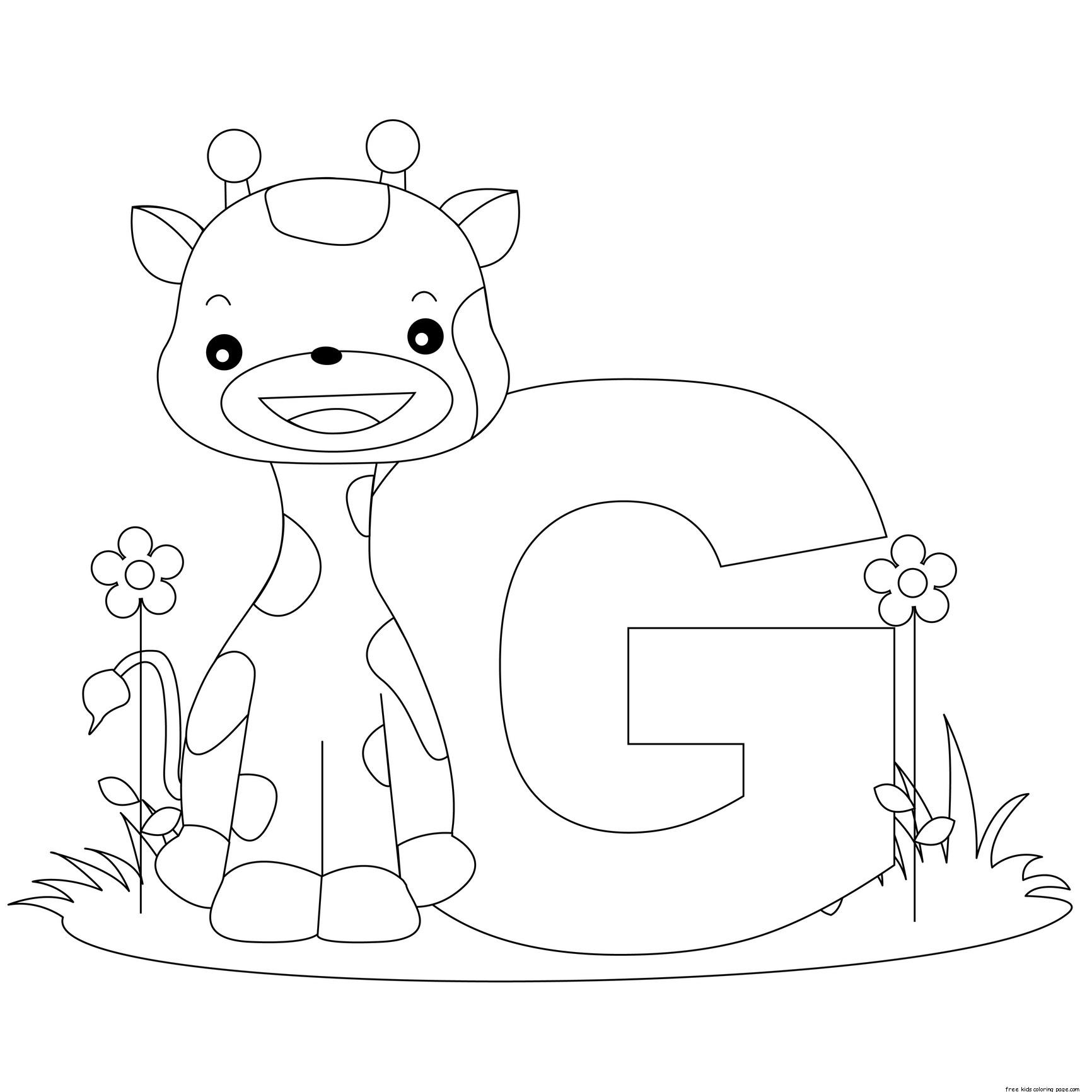 Letter G Kindergarten Coloring Pages